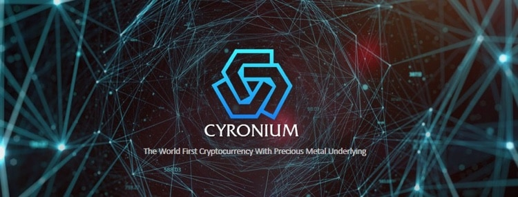 cryonium cryptocurrency precious metal blockchain