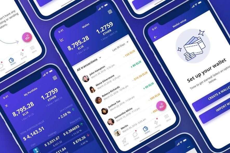 elix app crowdfunding blockchain