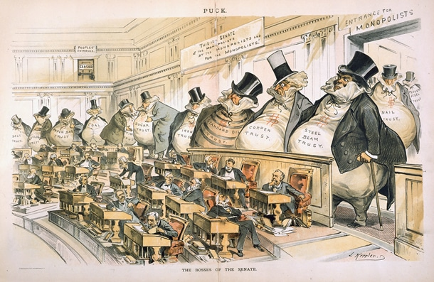 """The Bosses of the Senate,"" Joseph Keppler courtesy Wikimedia"